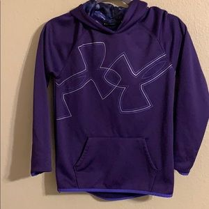 Under armour purple hoodie youth large